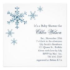 Winter Glamour Baby Shower Invitation