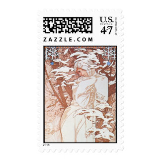Winter Goddess Postage