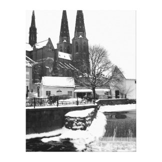 Winter Gothic BW Canvas Print