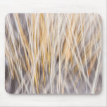 Winter grass abstract mouse pad