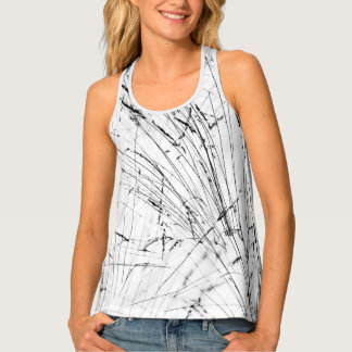 Winter Grass In Snow Tank Top