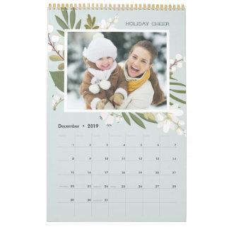 Winter Greenery | 24 Photo Custom Caption Calendar