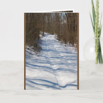 Winter Greeting Card - Smitty's Lane in Winter
