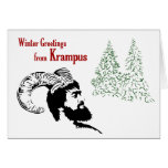 Winter Greetings from Krampus Greeting Card