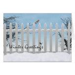 Winter greetings greeting card