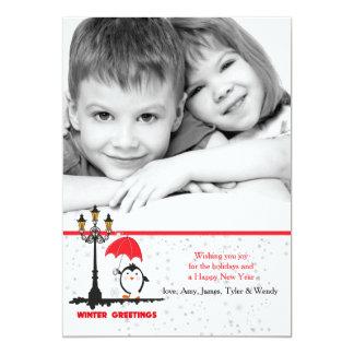 Winter Greetings Holiday Photo Card