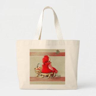 Winter Greetings Large Tote Bag