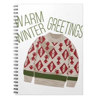 Winter Greetings Notebook