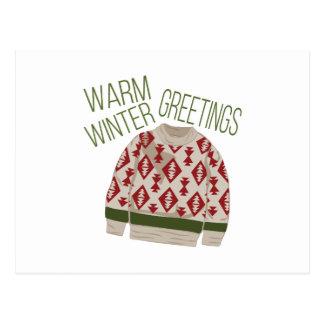 Winter Greetings Postcard
