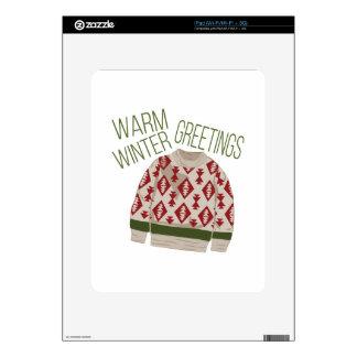 Winter Greetings Skin For iPad