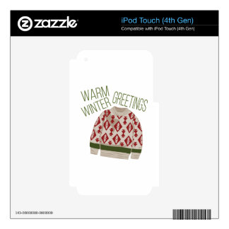 Winter Greetings Skins For iPod Touch 4G