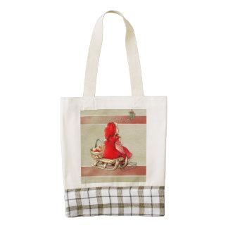 Winter Greetings Zazzle HEART Tote Bag