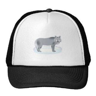 winter grey wolf trucker hat