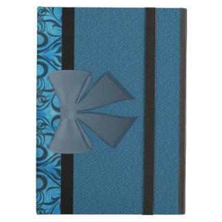 Winter grunge damask iPad cases