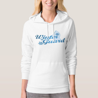 Winter Guard Flag Snowflake Blue Hooded Pullover