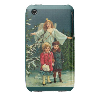 WINTER GUARDIAN ANGEL WITH TWO CHILDREN iPhone 3 CASES