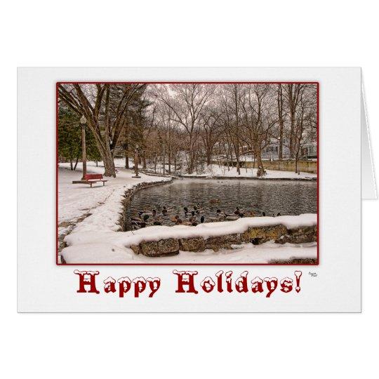 Winter Happy Holidays Christmas Greeting Card