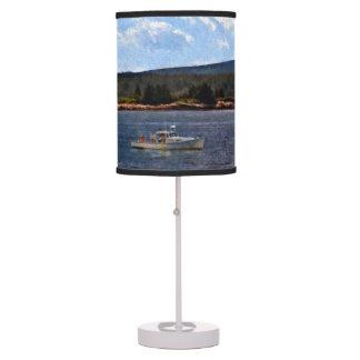 Winter Harbor Light on Mark Island, Friendship Bay Desk Lamp