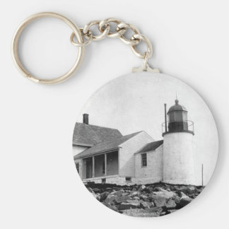 Winter Harbor Lighthouse Keychain