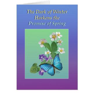 Winter Harkens Spring Card