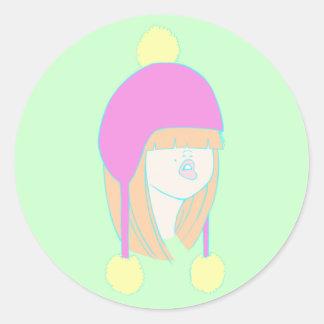 Winter Hat Sticker