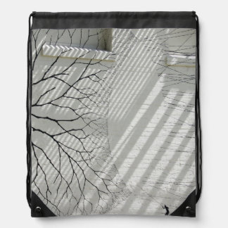 Winter Haven Abstract Drawstring Bag