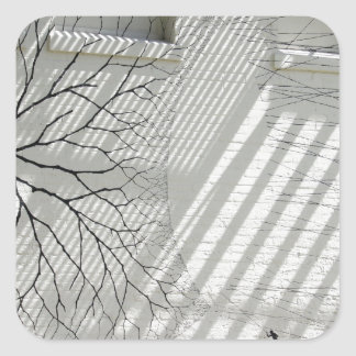 Winter Haven Abstract Square Sticker