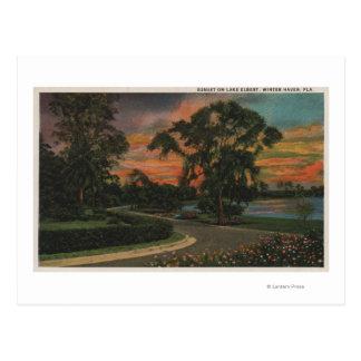 Winter Haven, Florida - Sunset View of Lake Postcard