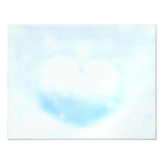 Winter heart 4.25x5.5 paper invitation card