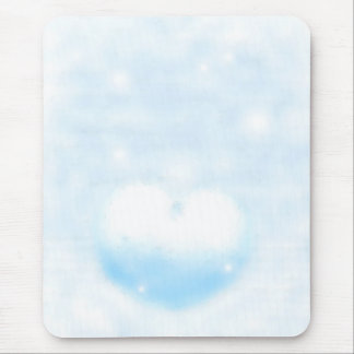 Winter heart mouse pad