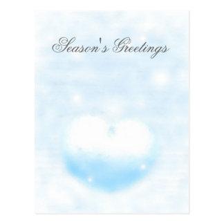 Winter heart postcard