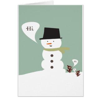 Winter Hello Greeting Card