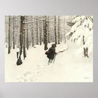 Winter Hike 1904 Print