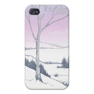 Winter Hillside Cover For iPhone 4