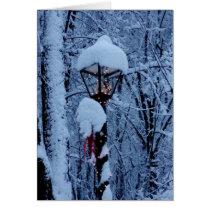 """Winter Holiday Card: """"Magic Lamp Post"""" Card"""