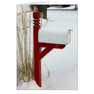 "Winter Holiday Card: ""Snow Mail"""