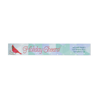 Winter Holiday Cheers Wrap Around Label
