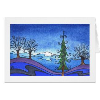 "Winter holiday/christmas card, ""Winter Morning"" Card"