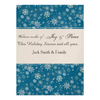 Winter Holiday Falling SnowFlakes Invite