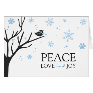 Winter Holiday Greeting Note Card