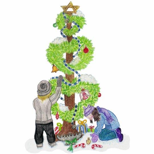 Winter Holiday Love Tree Sculpture