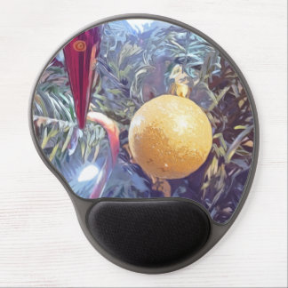 Winter Holiday Ornaments Gel Mouse Pad