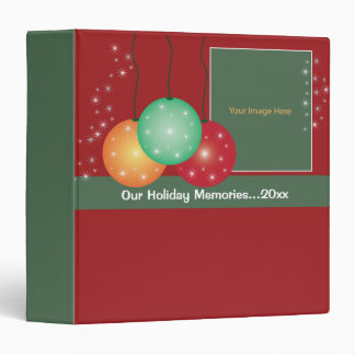 Winter Holiday Ornaments Memories Photo Album Binders