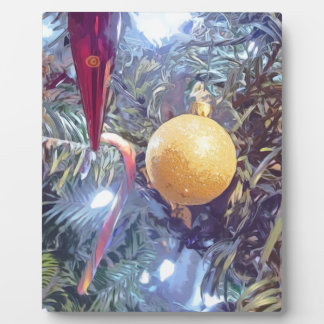 Winter Holiday Ornaments Plaque