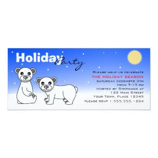 Winter Holiday Party Invitation Baby Polar Bears