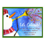 Winter Holiday Party Invitation Post Card