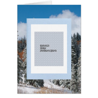 Winter holiday photo card template