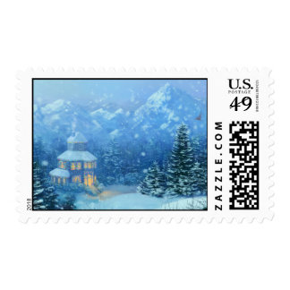 Winter Holiday Postage Stamps
