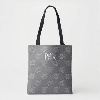 Winter Holiday Reindeer Chevron Pattern Art Design Tote Bag