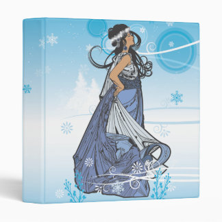 Winter Holiday Snow Queen 3 Ring Binder